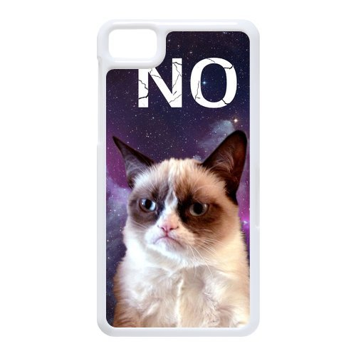 Generic Cell Phones Cover For Black Berry Z10 Case Cute Animals Grumpy Cat Face Pattern Custom Made Hard Snap On Phone Cases front-957728
