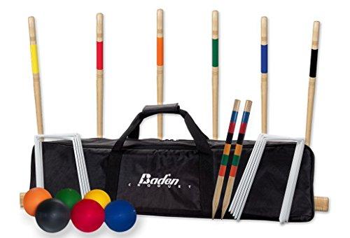 Baden G209-02-P2 Deluxe Series Croquet Set