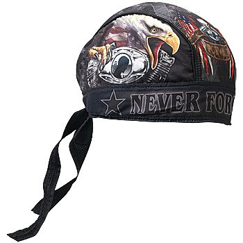 Never Forget POW/MIA American Eagle Headwrap Motorcyle Bandana Accessory