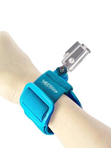Fnkaf Superb Quality Elastic Fibre And Polycarbonate Buckle Fixed Wrist Strap Blue
