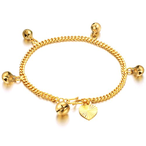 OPK 18K Gold Plated Bell Women's Bracelet Bangle Hand Chain Best Gift!