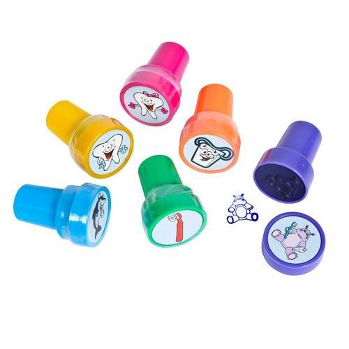 ~ 6 ~ Dental / Tooth Stamps / Stampers ~ Self-inking ~ New / Shrink-wrapped ~ Teeth, Dentist, Oral Hygiene