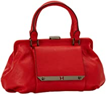 Hot Sale Halston Heritage Metal Framing MF250001L2 Satchel,Vermillion,One Size