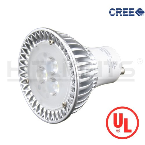 Hitlights Cree 6W Cool White (6000K) Mr16 Dimmable Led Light Bulb, Gu10 Base, Equivalent To 50W Halogen, 5 Year Warranty, Ul Listed