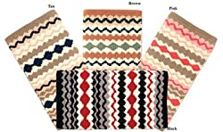 Saddle King Chief's Wool Blanket, Pink/Tan/Cream/Peach (PK)