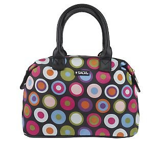 Sachi 30070-012 Multi-Circle Black Insulated Lunch Tote