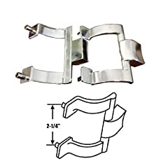 chrome shower door towel bar brackets only 214