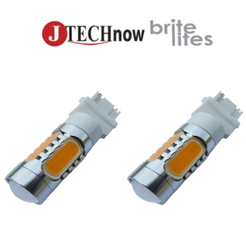 Jtech 2X T25 3157. 13W High Power Led Yellow Signal Light Bulb