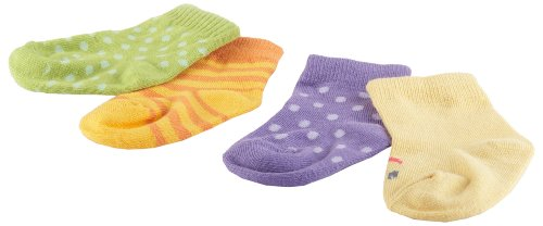 "Baby Aspen ""Caterpillar Crawlers"" Baby Socks Gift Set, 0-6 Months"