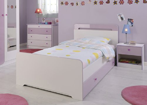 Jumbo-Möbel Bett YASMIN in Weiß & Lila – Kinderbett 90 x 200 cm jetzt bestellen