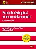 echange, troc Frédéric Debove, Falletti François, Dupic Emmanuel - Précis de droit pénal et de procédure pénale