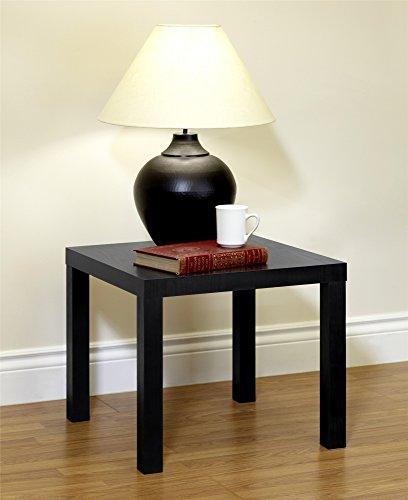DHP Parsons Modern End Table, Black Wood Grain