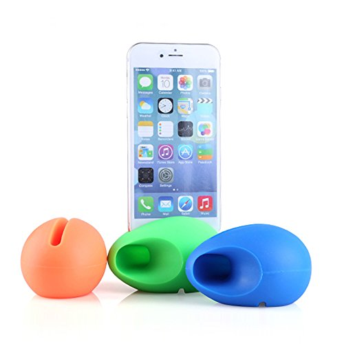 iPhone 7 and iPhone 6s Powerless Egg Portable Amplifier, Sphere G.® [Crystal Clear] Premium Silicone / Extra Loud Speaker for iPhone 6 Amplifier, iPhone 7 and iPhone 6S Amplifier (Portable Speaker Iphone compare prices)