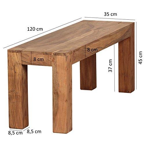 Wohnling-WL1465-Akazie-Massivholz-Esszimmer-Sitzbank-120-x-35-cm-Holz