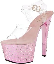 Pleaser Women s Stardust 708 Ankle Strap Sandal