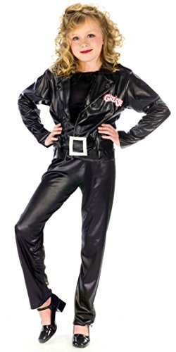 Girls Grease Cool Sandy Kids Child Fancy Dress Party Halloween Costume