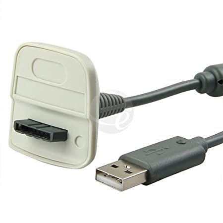 Gray USB Charging Cable for Xbox 360 Controllers