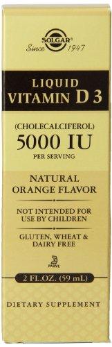 Solgar Liquid Vitamin D3 - Natural Orange Flavour - 59ml x 5000iu