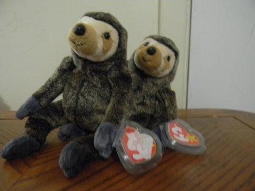 1df275bd55b TY Beanie Babies Slowpoke the Sloth Stuffed Animal Plush Toy - 6 inches  tall - Dark