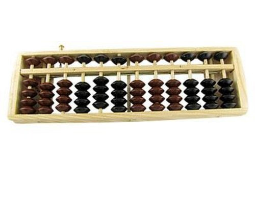 Sealike Japanese Wooden Wood Abacus Soroban Office Calculation with 12 Rods Great Educational Tool for Students with a Stylus - 1