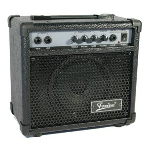 freedom amplifier 15 watt electric bass guitar amp model ms 15b musical. Black Bedroom Furniture Sets. Home Design Ideas
