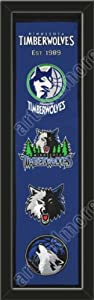 Heritage Banner Of Minnesota Timberwolves-Framed Awesome & Beautiful-Must For A... by Art and More, Davenport, IA