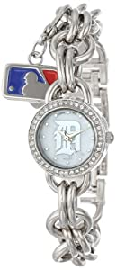 Game Time Ladies MLB-CHM-DET Charm MLB Series Detroit Tigers 3-Hand Analog Watch by Game Time