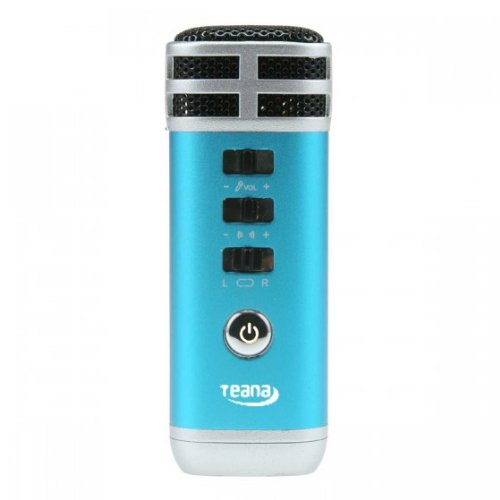 Great Features Of Andoer Mini 3.5mm Microphone Karaoke Player for PC/Phone/PSP/MP4/MP3 Blue