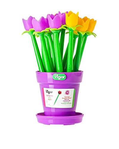 VIGAR Set Bolígrafo de Bola 15 Uds. Flower Shop