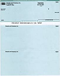 Quickbooks Checks on Top - 1000 Printed Checks (Green Diamond)