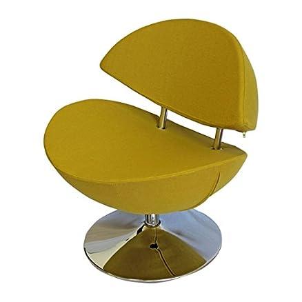 Poltrona girevole a Smile comoda giallo senape