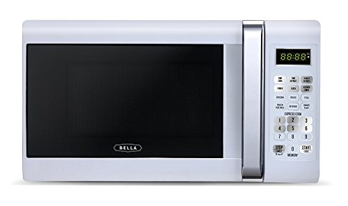 Bella 700-Watt Compact Microwave Oven, 0.7 Cubic Feet, White with Chrome (Small Compact Microwave Oven compare prices)