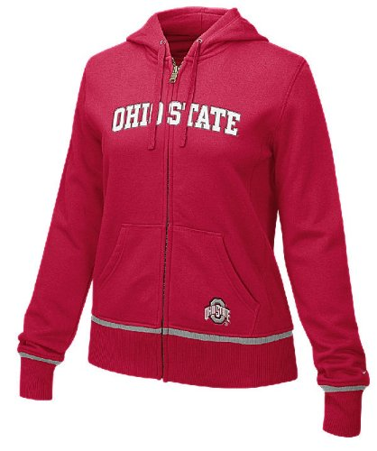 Ohio State Buckeyes Women?s Red FZ Full-Zip Embroidered Hoody By Nike Team Sports