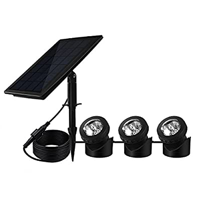 BeneStellar 18 LED 3 Solar Powered Submersible Outdoor Lamps RGB Color Changing Landscape Ambiance Lighting for Outdoor Garden Pond Pool Underwater Decoration