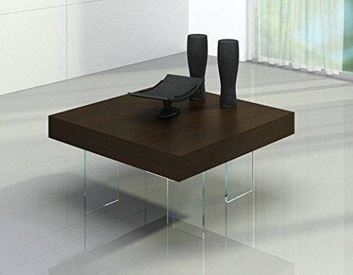 Aura - Modern Floating Tobacco Coffee Table Brown