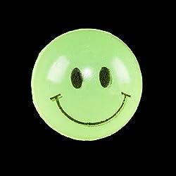 Glow in the Dark Smile Super Balls - 12 per pack