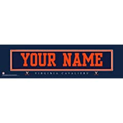 NCAA Personalized Jersey Stitch Print Black Framed Collegiate Virginia Cavaliers by You