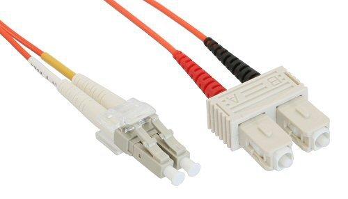 InLine LWL Duplex Kabel, LC/SC, 3m