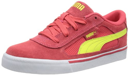 Puma Unisex - Child Puma S Evolution Jr Low Red Rot (paradise pink-sunny lime 03) Size: 34