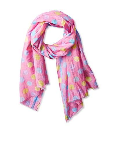Tolani Women's Polka Dot Scarf, Pink