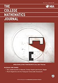 THE COLLEGE MATHEMATICS JOURNAL: SEPTEMBER 2013
