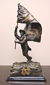 NCAA Notre Dame Fighting Irish Flag Desktop Statue by Wild Sales