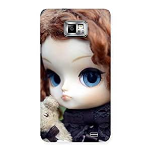 Gorgeous Teddy with Doll Back Case Cover for Galaxy S2