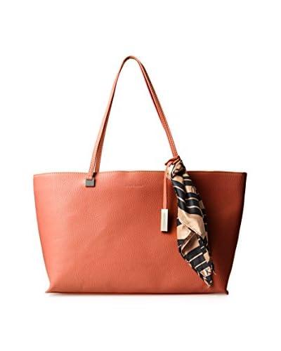 Ivanka Trump Women's Julia Double Shoulder Bag with Scarf, Orange