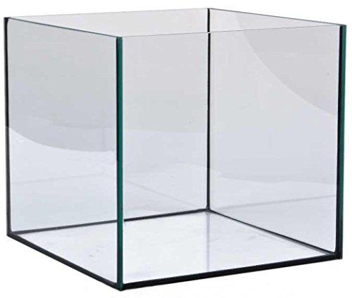 64-Liter-Glasaquarium-Wrfel-40x40x40-cm-Glasbecken-Nano-Cube-Aquarium-schwarz-verklebt
