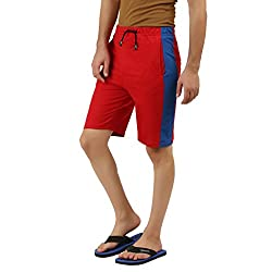 Hotfits red blue graphic summer shorts