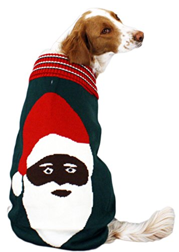 Black Santa Dog Christmas Sweater