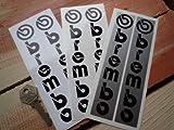 Brembo Fork Slider Stickers black & white ブレンボ ステッカー デカール シール 海外限定 165mm x 30mm 2枚セット [並行輸入品]