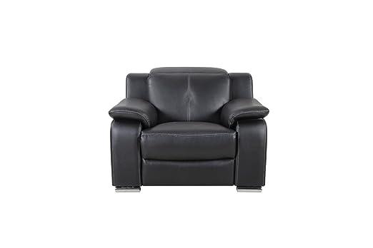 Moloo Fauteuil relax électrique Cuir NoirCity 115 x 102 x 101 cm
