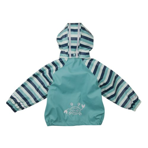 BORNINO Regenjacke Baby-Jacke Regenbekleidung, Größe 98/104, türkis -